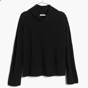 Madewell black mockneck sweater